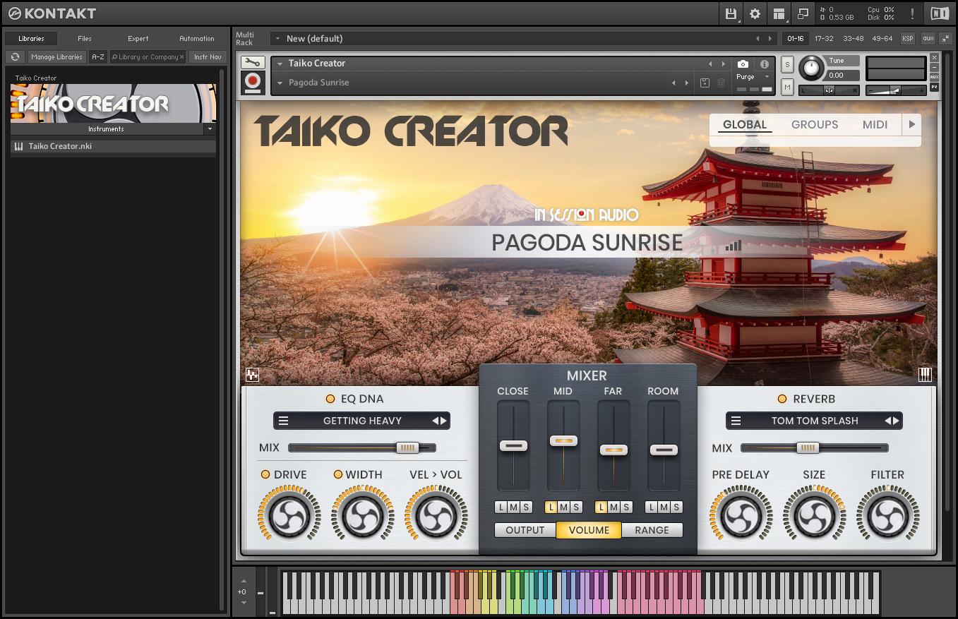In Session Audio Taiko Creator – 日本史诗太鼓