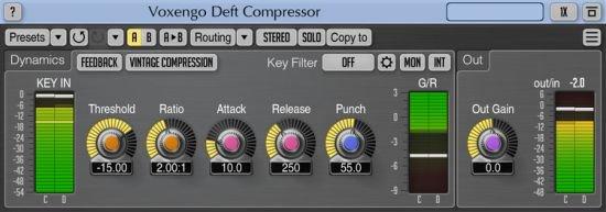 压缩效果器 – Voxengo Deft Compressor 1.8