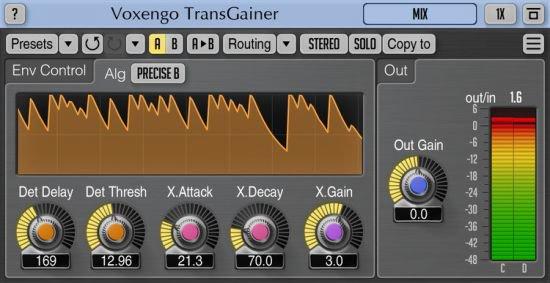 瞬态控制效果器 – Voxengo TransGainer 1.8