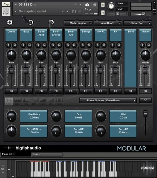 大鱼合成器 – Big Fish Audio Modular: Analog Tech House KONTAKT