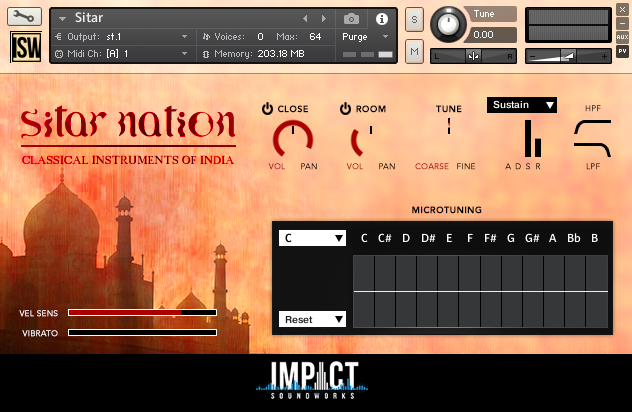 印度乐器 – Impact Soundworks Sitar Nation v2.0 KONTAKT
