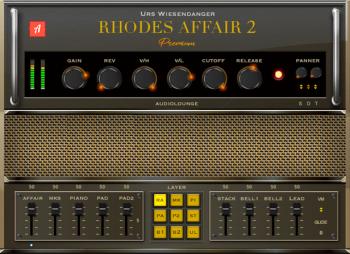 好用的综合音色插件 – Audiolounge Urs Wiesendanger Rhodes Affair 2 Premium MacOSX&Win AU VST