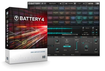 电池鼓 – Native Instruments Battery 4 v4.1.6 MacOSX