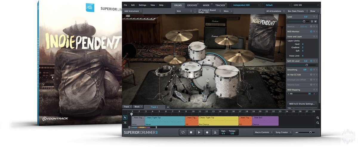 老式原声鼓 – Toontrack The Indiependent SDX (SOUNDBANK)