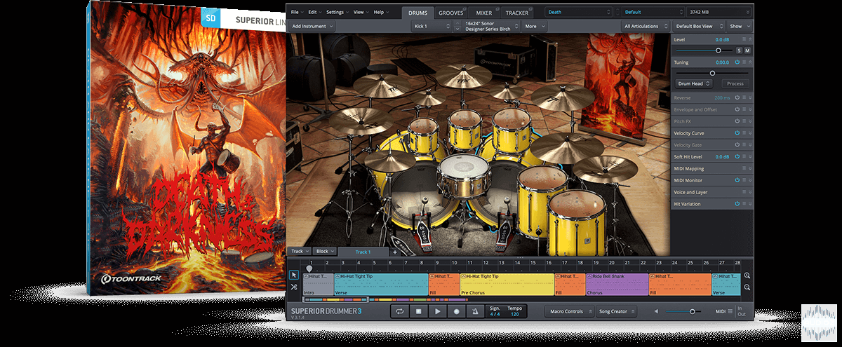 超级鼓手拓展包 – Toontrack DEATH and DARKNESS SDX – Darkness part (SOUNDBANK)
