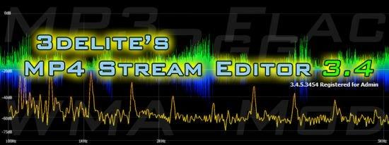 音频编辑软件 – 3delite MP4 Stream Editor 3.4.5.3500