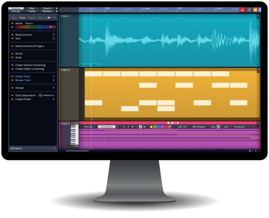 音乐制作宿主软件 – Tracktion Software Waveform v10.3.4 MacOSX