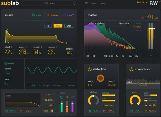 808低音合成器 – FAW SubLab v1.1.2 MacOS