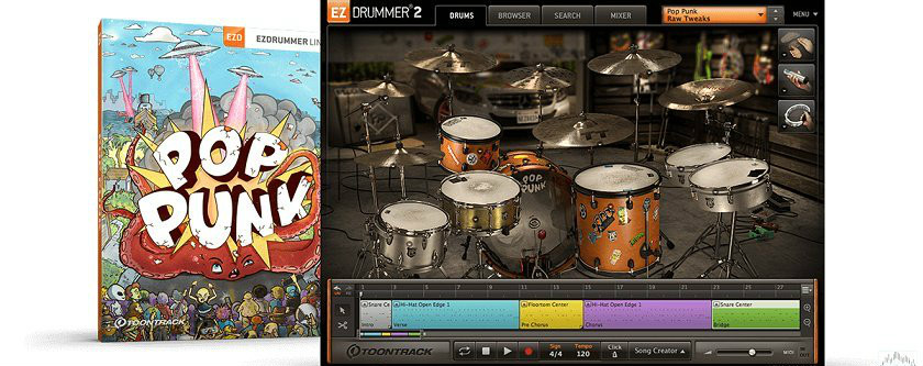 朋克鼓拓展 – Toontrack Pop Punk EZX