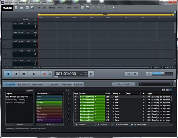Music Maker 2016 Premium–强大、方便的Loops编曲宿主