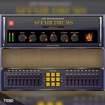 鼓效果器插件 – Audiolounge Urs Wiesendanger Rhodes Affair Drums [WiN, MacOSX]