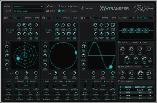 创意滤波器插件 – Rob Papen XY-Transfer 1.0.0 WIN