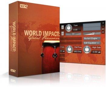 世界民族打击乐 – Vir2 Instruments World Impact: Global Percussion v1.2 KONTAKT