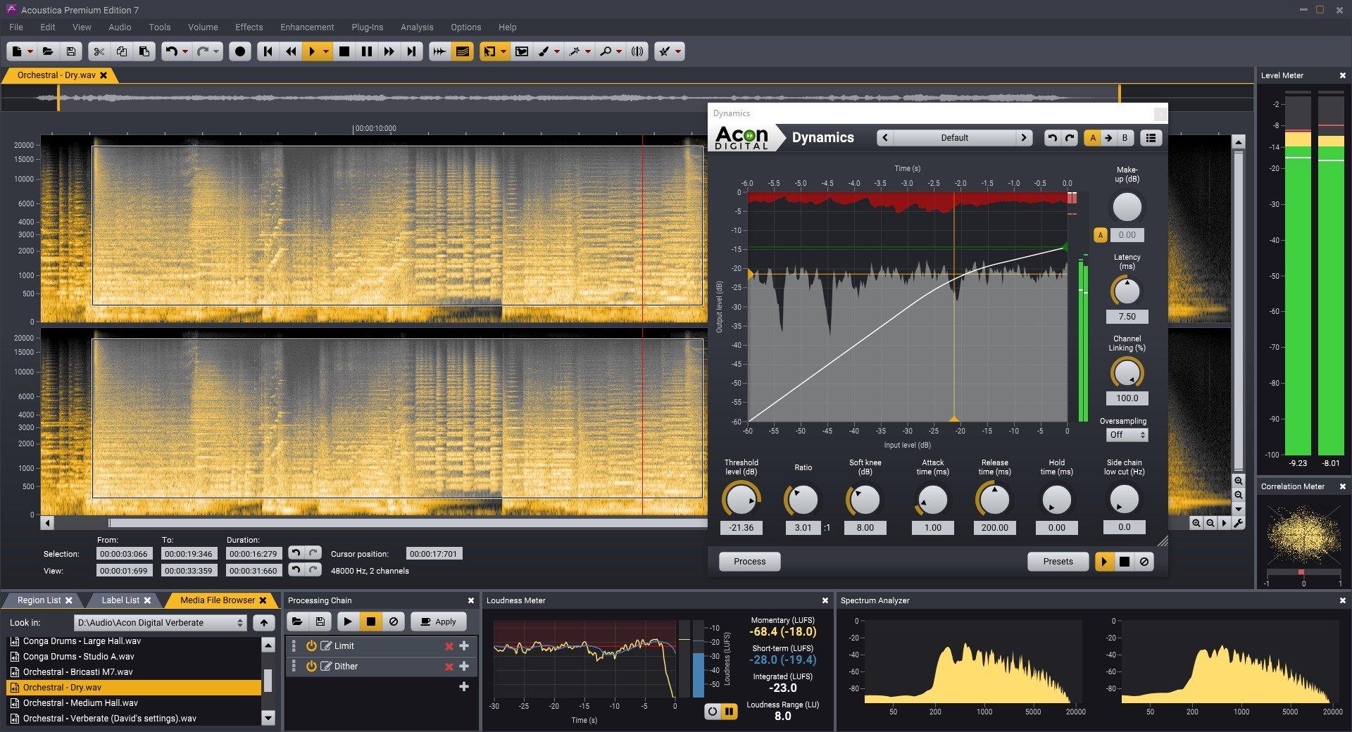 高级音频处理软件 – Acon Digital Acoustica Premium 7.2.8 Win
