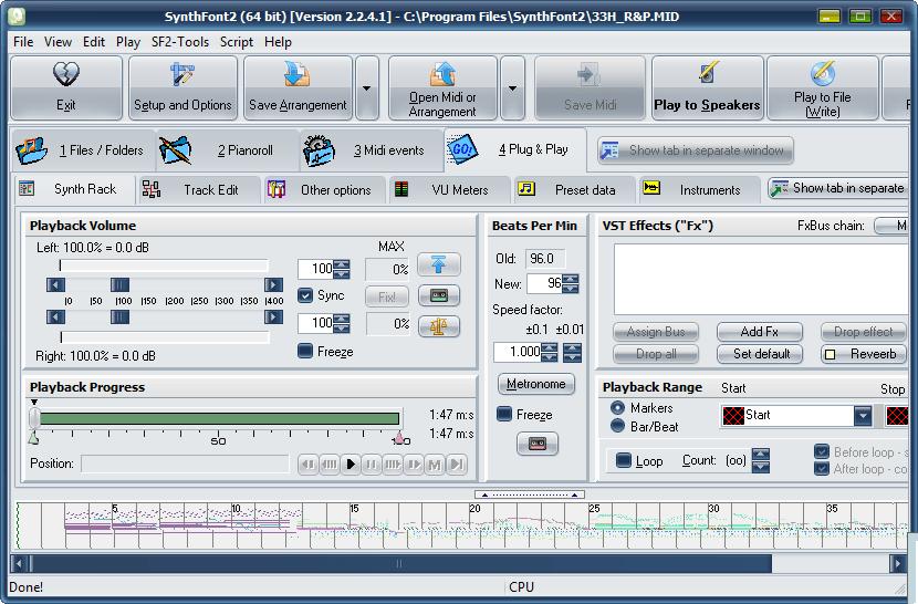 强大的MIDI文件播放工具 – SynthFont2 v2.3 WIN