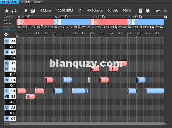 动机编辑器和旋律生成器 – Music Developments Melodya v1.0.4 Win