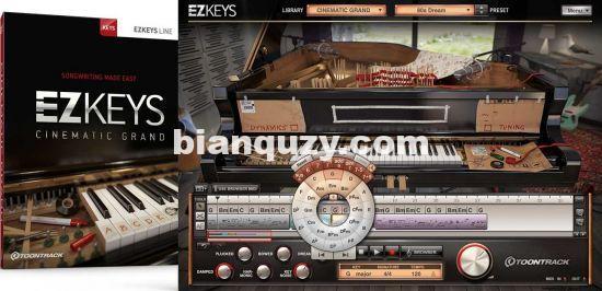 钢琴音源 – Toontrack EZkeys Cinematic Grand v1.0.0 MacOS-R2R
