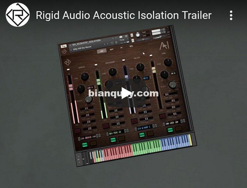 合成音色 – Rigid Audio Acoustic Isolation KONTAKT