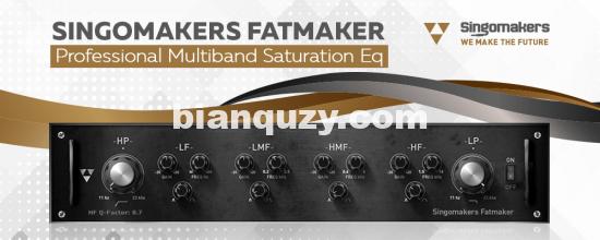 多频段饱和器EQ插件 – Singomakers Fatmaker v1.3.3 MacOS