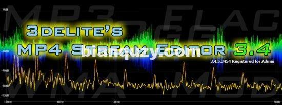 mp3音频编辑软件 – 3delite MP4 Stream Editor 3.4.5.3528 WIN