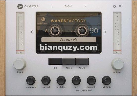 模拟盒式磁带效果器 – Wavesfactory Cassette 1.0.4 WIN