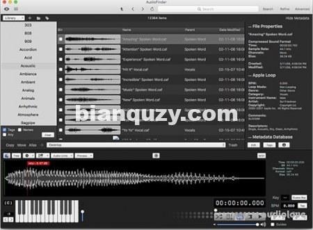 音频处理工具 – Iced Audio AudioFinder v6.0.4 [MacOSX]