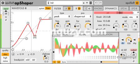 音频插入效果插件 – apulSoft apShaper v1.1.0 [WiN, MacOSX]