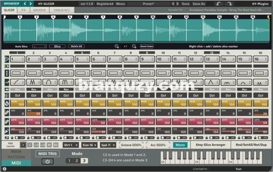 采样切片器和步进音序器 – HY-Plugins HY-Slicer 1.4.0 WIN